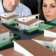 Watching architect model — Stock Photo