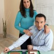 Stock Photo: Architect and his wife