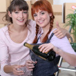Best friends celebrating removal — Stock Photo #10393508