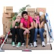 Stock Photo: Friends moving house
