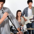 Royalty-Free Stock Photo: Rock band rehearsing
