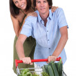 Couple food shopping — Stock Photo #10394176