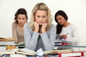 Stressed students — Stock Photo