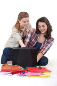 Students having fun — Stock Photo