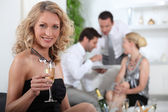 Aperitif with friends — Stock Photo