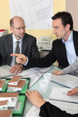 Architects in meeting — Stock Photo