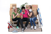 Young moving — Stock Photo