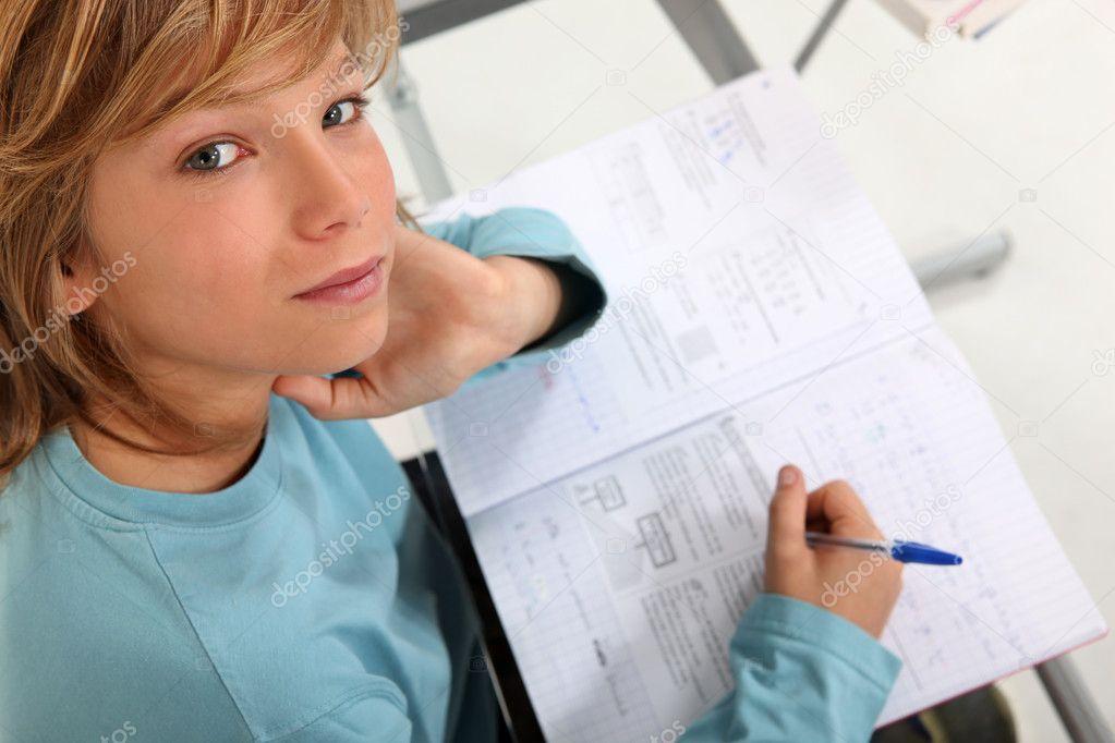 Prepubescent boy sitting an exam | Stock Photo © photography33 #950