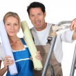 Couple doing DIY — Foto de stock #10400372