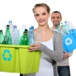 Couple taking out the recycling — Stock Photo #10402707
