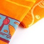 Orange beach towel — Stock Photo
