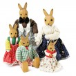 Toy rabbit family — Stock Photo #10404261