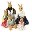 Toy rabbit family — Stock Photo