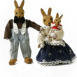 Stock Photo: Toy rabbit family