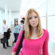 Teen getting out of class — Stock Photo