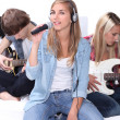Teenage band — Stock Photo #10405322
