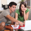 Teens working with computer — Stock Photo #10405731
