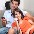 Teens on the couch — Stock Photo
