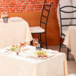 Meal for two in a restaurant - Foto Stock