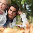 Stock Photo: Couple in woods