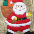 Canvas Santa bag - Stock Photo