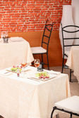 Meal for two in a restaurant — Stock Photo