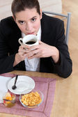 Women's breakfast — Stock Photo