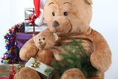 Christmas Teddy Bears — Foto Stock