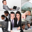 Montage of business images — Photo