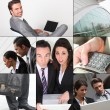 Montage of business images — Stockfoto