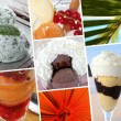 Montage of holiday ice creams — Stok fotoğraf