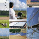 Renewable energies themed collage — Stock Photo