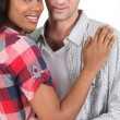 Mixed-race couple — Stock Photo