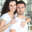 Woman embracing man — Stock Photo #10467911