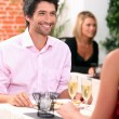 Man in restaurant — Stock Photo
