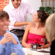 Restaurant diners — Stock Photo