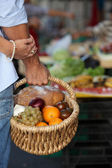 A basket full of healthy food — Stock Photo