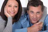 Portrait of mature couple — Stock Photo
