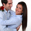 Couple on Valentine's day — Foto Stock