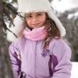 Little girl in the mountains — Stock Photo