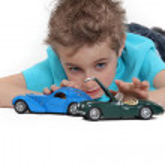 Little boy playing car — Stock Photo