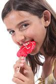 Little girl with lollipop — Stock Photo