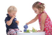 Kids at tea party — Stock Photo