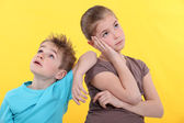 Bored kids — Stock Photo