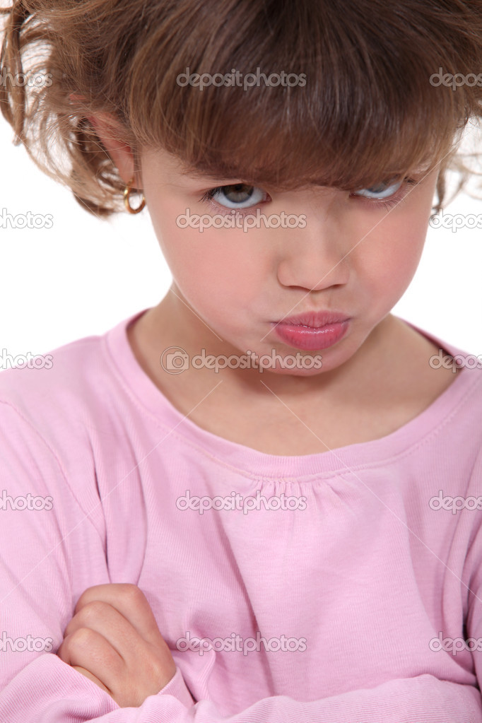 Angry little girl — Stock Photo #10474584