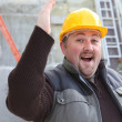 Overjoyed builder — Stock Photo #10492008