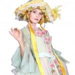 Woman with romantic dress — Stock Photo #10492327