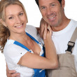 Couple in working clothes — Stock Photo #10492407