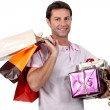 Royalty-Free Stock Photo: Honey, I went shopping