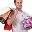 A man who went shopping. — Stock Photo #10492424